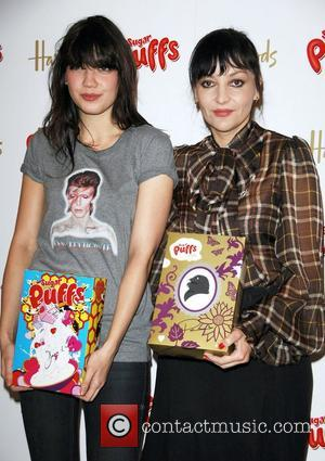 Daisy Lowe and Pearl Lowe Pearl Lowe unveils her limited edition designed Sugar Puffs boxes in aid of the Variety...