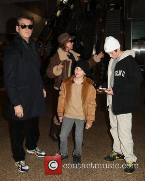 Pierce Brosnan, Paris Beckett Brosnan and Dylan Thomas Brosnan