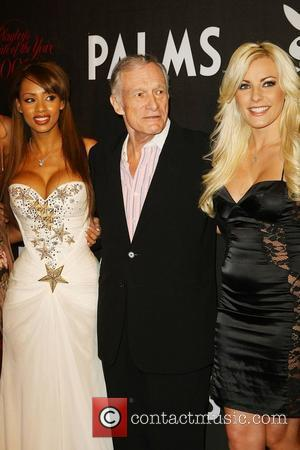 Ida Ljungqvist and Hugh Hefner