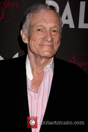 Hugh Hefner Playboy Playmate of The Year 2009 held at The Palms Hotel Casino - Arrivals Las Vegas, Nevada -...