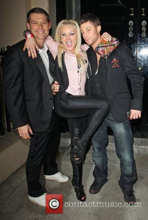 Rita Simons and Duncan James in Portman Square London, England - 14.03.09