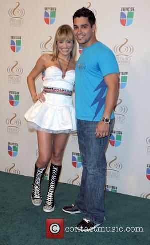 Fanny Lu and Wilmer Valderrama Univision's 'Premio Lo Nuestro A La Musica Latina' awards - Press Room Miami, Florida -...