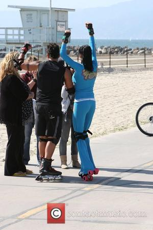 Peter Andre, Jordan, Aka Katie Price, Skating After Leaving Venice Bike and Skates