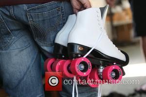 Katie Price, aka Katie Price, picks out skates at Venice Bike and Skates