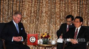 Prince Charles and Prince Of Wales Meets President Hu Jintao Of China At The Mandarin Oriental Hotel