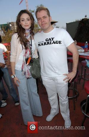 Emmy Rossum and Perez Hilton
