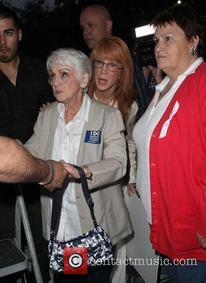 Kathy Griffin with her mother Celebrities participate in a march against Proposition 8 - a law which outlawed gay marriage...