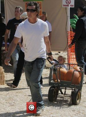 Gavin Rossdale and His Son Kingston At Mr. Bones Pumpkin Patch In West Hollywood