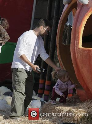 Tobey Maguire and daughter Ruby at Mr. Bones Pumpkin Patch in West Hollywood