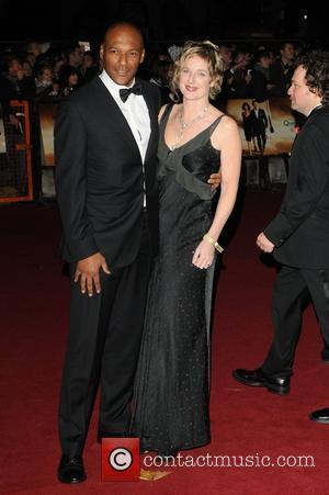 Colin Salmon and Fiona Hawthorne The World premiere of the new James Bond movie 'Quantum of Solace' held at the...