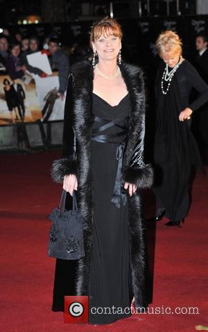 Samantha Bond The World premiere of the new James Bond movie 'Quantum of Solace' held at the Odeon Cinema, Leicester...
