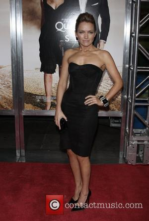 Becki Newton at the benefit screening of the new James Bond film - 'Quantum of Solace' held at AMC Lincoln...