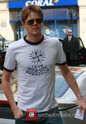 Kris Marshall leaving the BBC Radio One studios London, England - 30.10.08