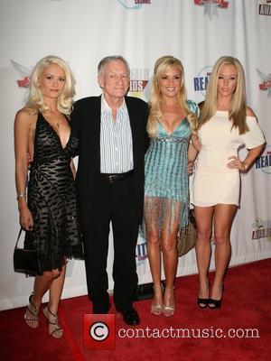 Holly Madison, Bridget Marquardt and Hugh Hefner