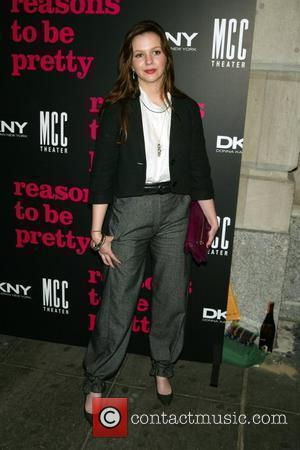 Amber Tamblyn  Opening Night of the Broadway play 'Reasons To Be Pretty' at the Lyceum Theatre-Arrivals  New York...