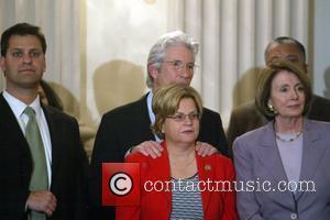Richard Gere, Congresswoman Ileana Ros-Lehtinen and House Speaker Nancy Pelosi