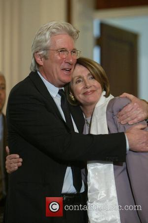 Richard Gere and House Speaker Nancy Pelosi