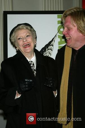 Elaine Stritch and Guest opening night of the new musical 'Road Show' at The Public Theatre New York City, USA...