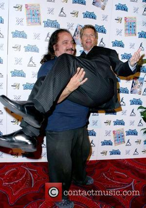 Ron Jeremy and Aaron Eckhart Ron Jeremy hosts an AVN party at Studio 54 inside the MGM Grand Hotel Resort...