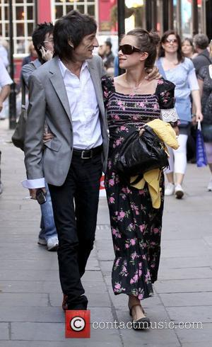 Ronnie Wood and Leah Wood