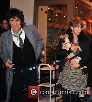 Ronnie Wood and Ekaterina Ivanova