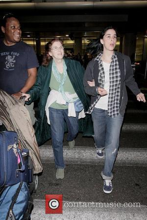 Sarah Silverman, Her Mother Beth Ann O'hara and Adopted Brother Kennedy Pugh Arrive At Lax Airport On A Delta Flight From New York City