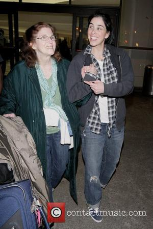 Sarah Silverman, Her Mother Beth Ann O'hara and Adopted Brother Arrive At Lax Airport On A Delta Flight From New York City