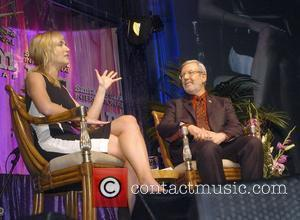 Kate Winslet and Leonard Maltin