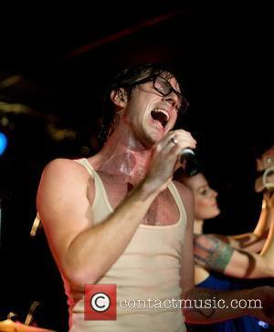 Jake Shears  Scissor Sisters perform a secret show under the alias 'Debbie's Hairy,' held at the Mercury Lounge New...
