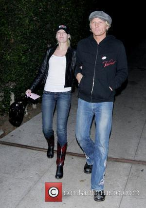 Scott Weiland and wife Mary Forsberg after voting in West Hollywood Los Angeles, California - 04.11.08