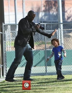 Seal and Henry Samuel Seal takes his children to a soccer practice at a park in West Hollywood Los Angeles,...