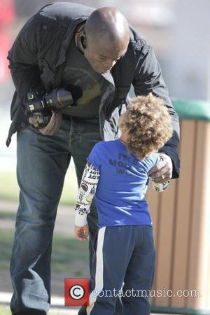 Seal, Henry Samuel Seal takes his children to a soccer practice at a park in West Hollywood Los Angeles, California...