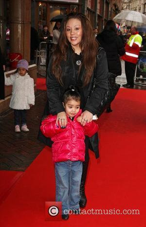 Mutya Buena with her daughter Tahlia UK charity premiere of The Secret of Moonacre held at the Vue cinema -...
