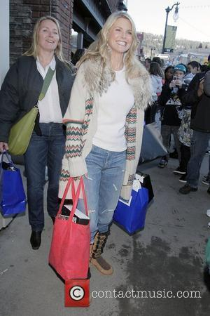 Former supermodel Christie Brinkley, in Utah for the unveiling of her latest 'got milk?' poster, goes out shopping on Main...