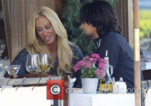 Shauna Sand out having lunch with a male companion in Beverly Hills.  Los Angeles, California, USA - 04.04.09