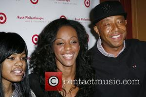 Teyana Taylor, Dawn Richard and Russell Simmons