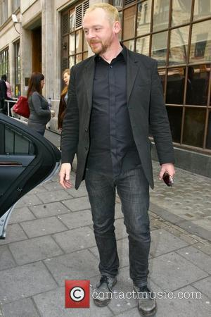 Simon Pegg outside BBC Radio One after appearing on the Edith Bowman show London, England - 21.04.09