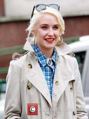 Lily Loveless Skins cast leaving BBC Radio One Studios after appearing on the Jo Whiley Show. London, England - 26.02.09