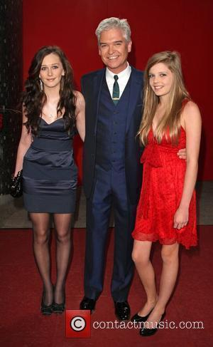 Phillip Schofield with his daughters Ruby and Molly The British soap awards 2009 held at BBC Television centre - red...