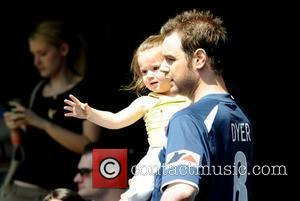 Danny Dyer and his daughter,  'Soccer Six' annual charity football tournament at Stamford Bridge football stadium London, England.- 24.05.09