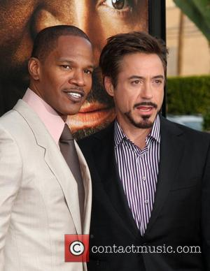 Jamie Foxx, Robert Downey Jr. Premiere of 'The Soloist' held at Paramount Studios - Arrivals Los Angeles, California - 20.04.09