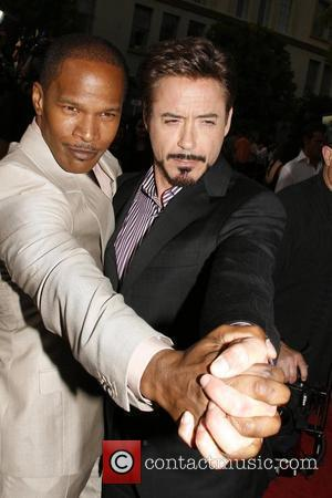 Jamie Foxx, Robert Downey Jr. Premiere of 'The Soloist' held at Paramount Studios - Arrivals Los Angeles, California - 20.04.09