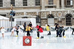 Ice-skating Stars Of The Future At The Launch Of Somerset House Skate School At Somerset House