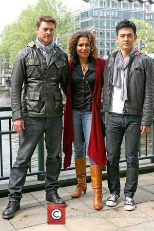 Karl Urban, Lucia Rijker and John Cho  Photocall for 'Star Trek' held at the Amstel Hotel Amsterdam, Netherlands -...