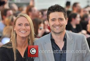 Tom Chambers and guest UK film premiere of 'Star Trek' at the Empire Leicester Square - Arrivals London, England -...