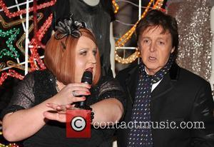 Peter Kay and Paul McCartney  Turning on the Christmas Lights at Stella McCartney's shop  London, England - 24.11.08