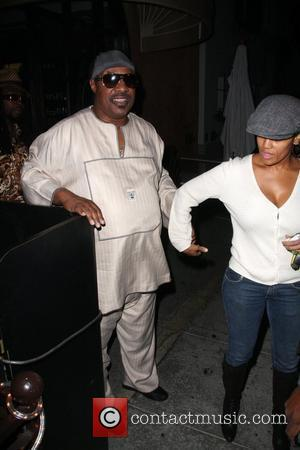 Stevie Wonder and Kai Milla Morris arriving at Prego Restaurant Los Angeles, California - 20.11.08