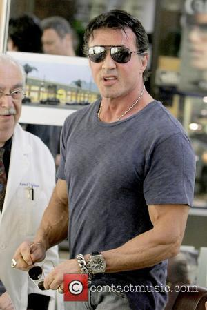 Sylvester Stallone shopping for glasses with his brother at Strand Optical Los Angeles, California - 29.11.08