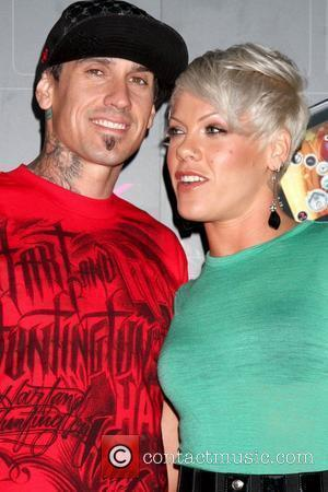 Carey Hart and Pink aka Alecia Moore T-Mobile Sidekick LX launch held at Paramount Studios - Arrivals Hollywood, California, USA...