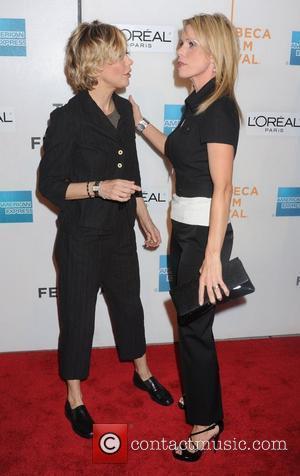 Cheryl Hines and Meg Ryan